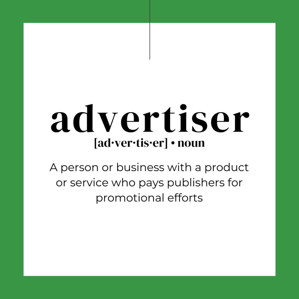 DIY Marketing advertiser affiliate marketing
